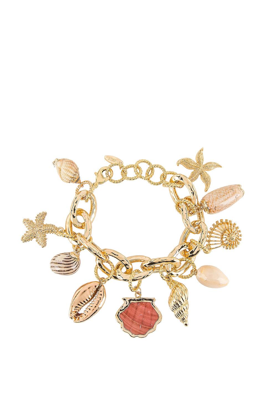 Ettika Shell Bracelet in Gold