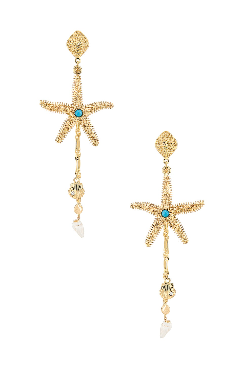 Ettika Starfish Earring in Gold