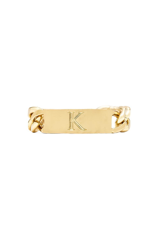 Ettika K Initial ID Bracelet in Gold