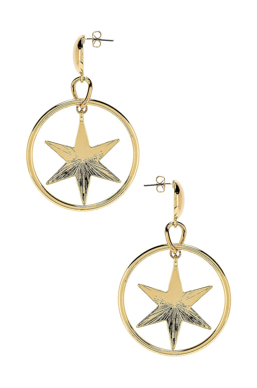 Ettika Star Hoop Earring in Gold