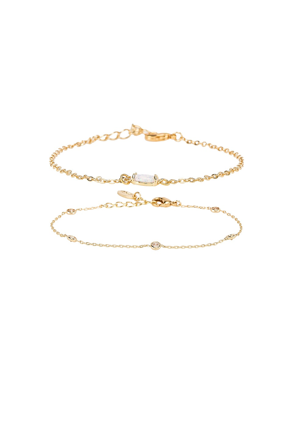 Ettika Gemstone Bracelet Set of 2 in Gold
