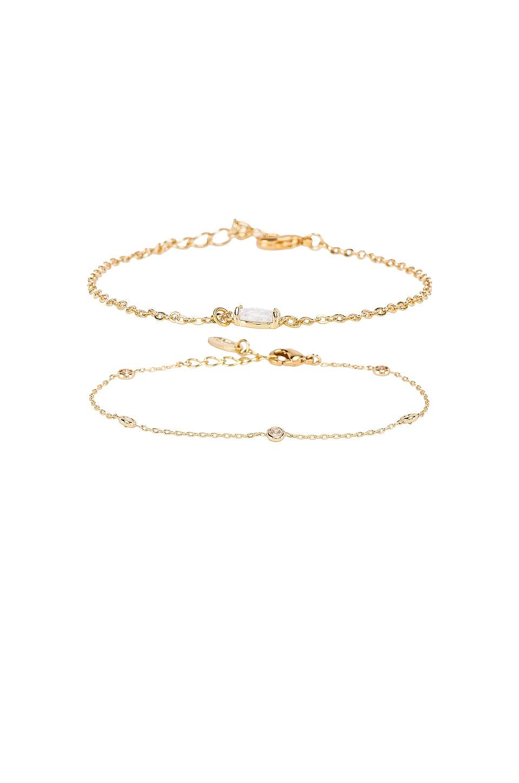 Ettika Gemstone Bracelet Set of 2 in Gold