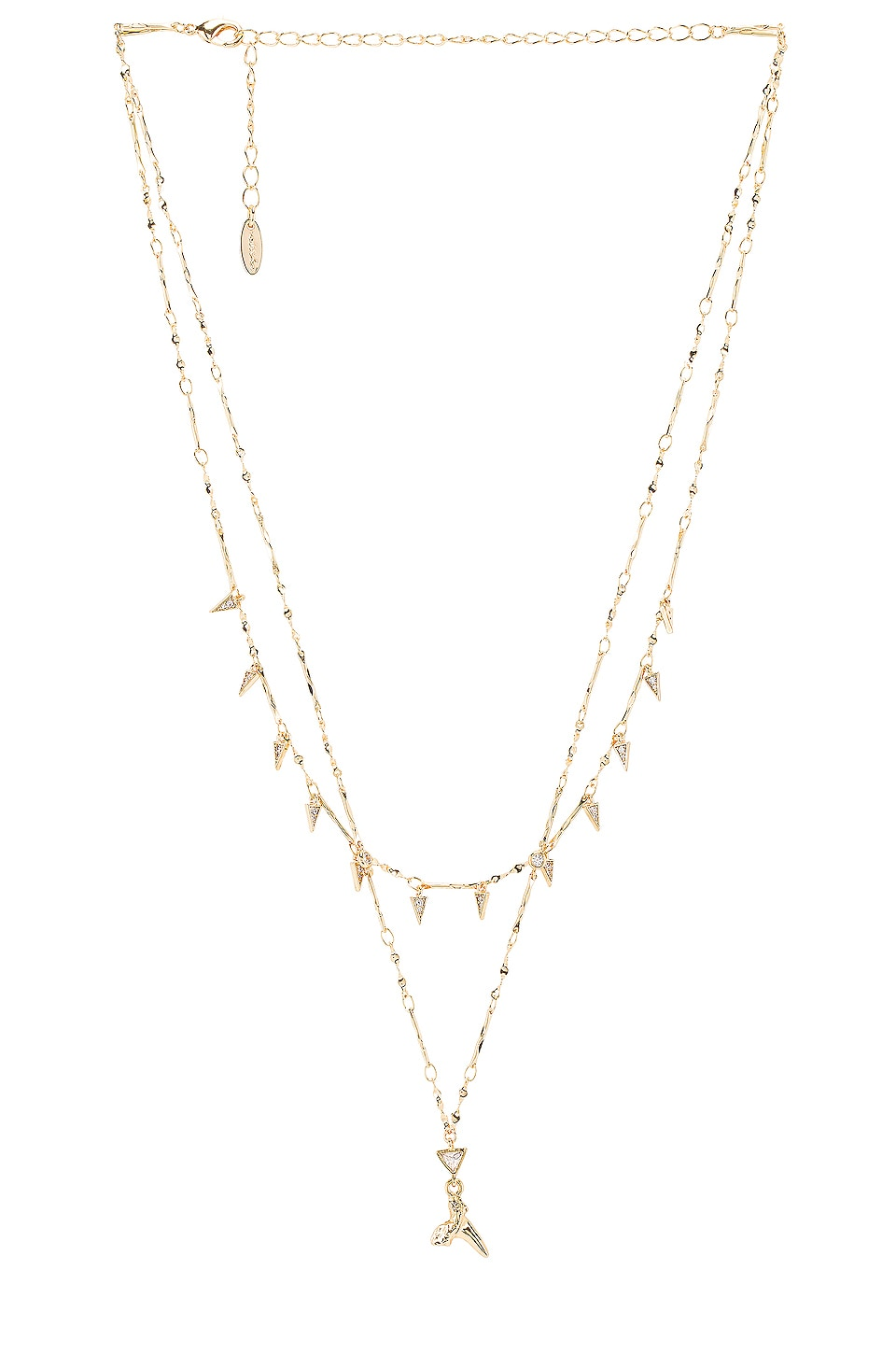 Ettika Layered Shark Tooth Necklace in Gold