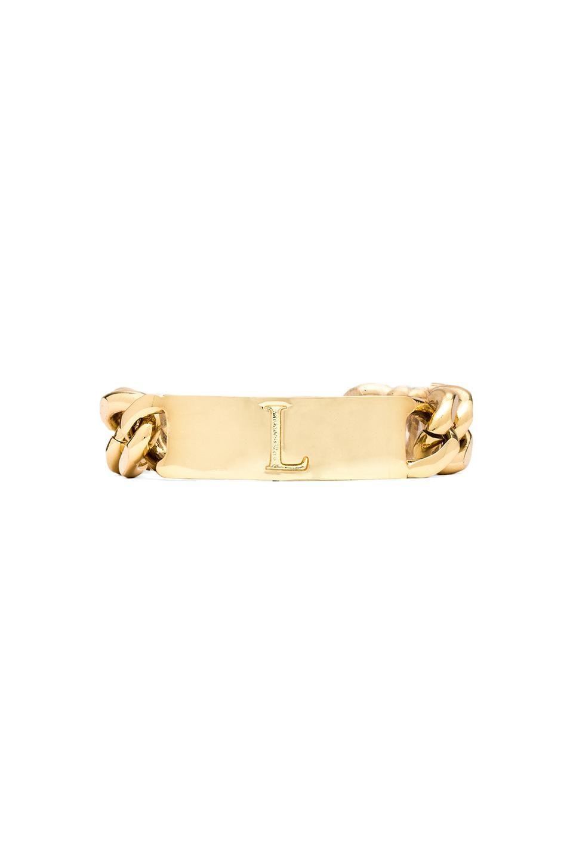 Ettika L Initial ID Bracelet in Gold
