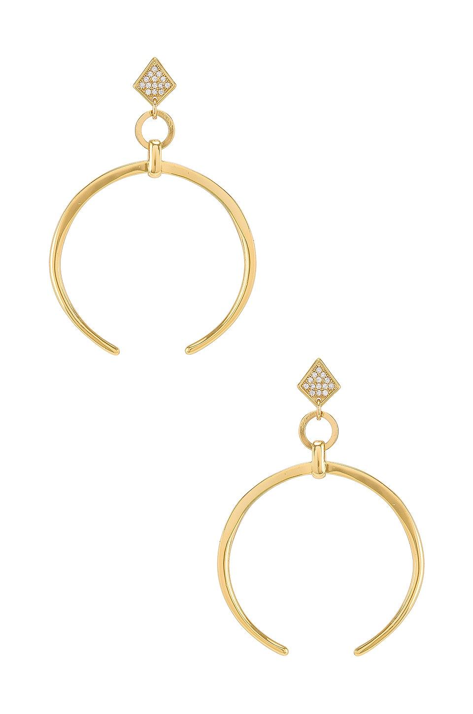 Ettika Crescent Drop Earring in Gold