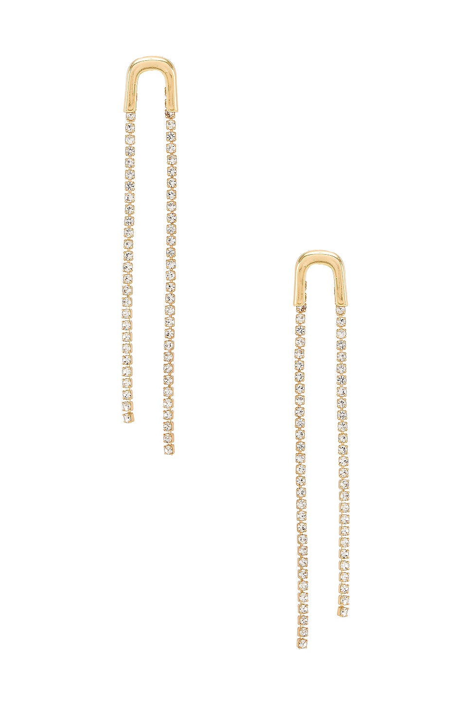 Ettika Double Crystal Drop Earring in Gold