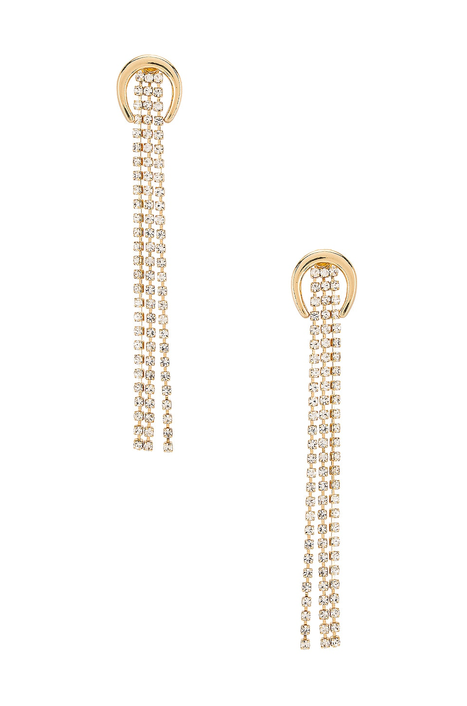 Ettika Crescent Crystal Drop Earring in Gold