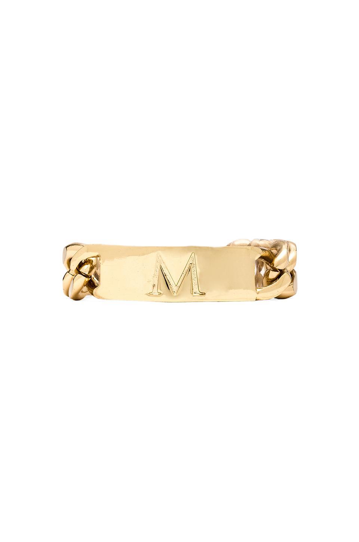 Ettika M Initial ID Bracelet in Gold