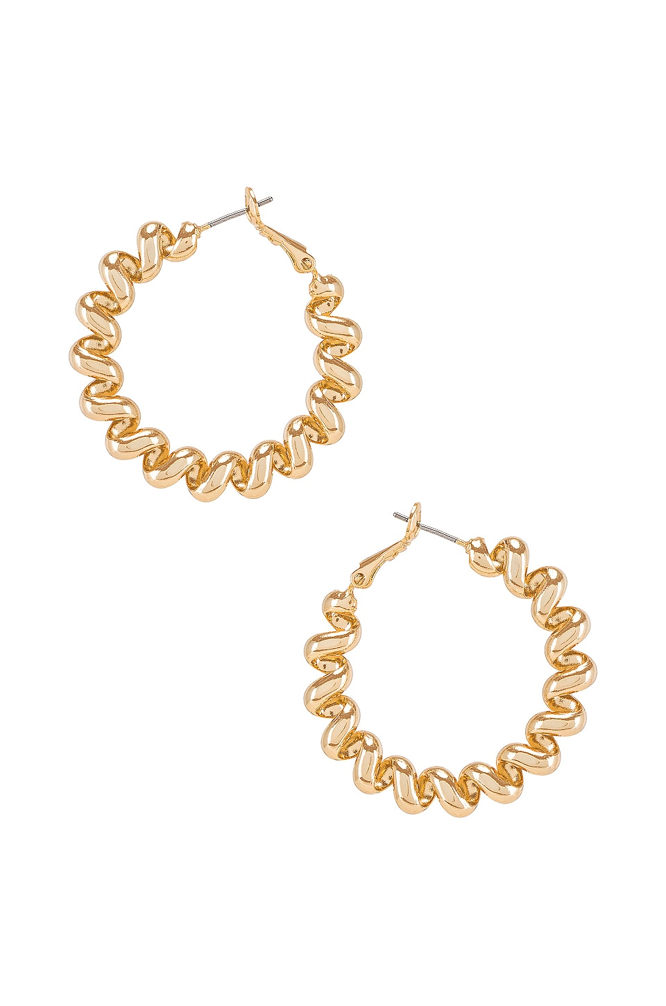 Ettika Spiral Hoop Earring in Gold