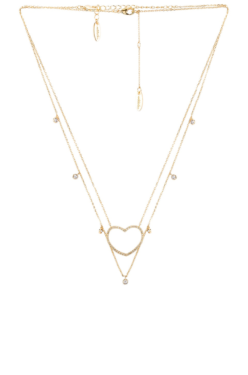 Ettika Layered Heart Necklace in Gold