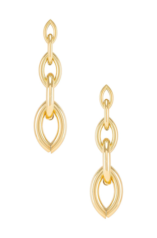 Ettika Chain Link Earring in Gold