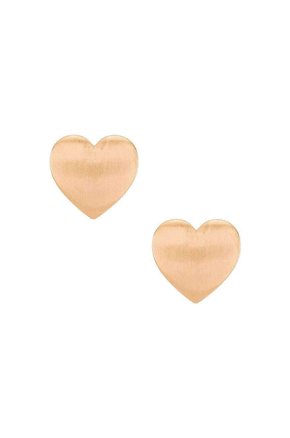 Ettika Heart Stud Earring in Gold