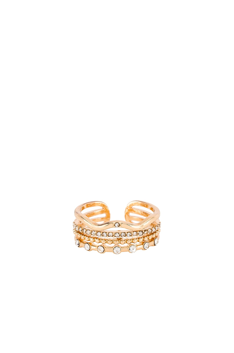 Ettika CZ Stacked Ring in Gold