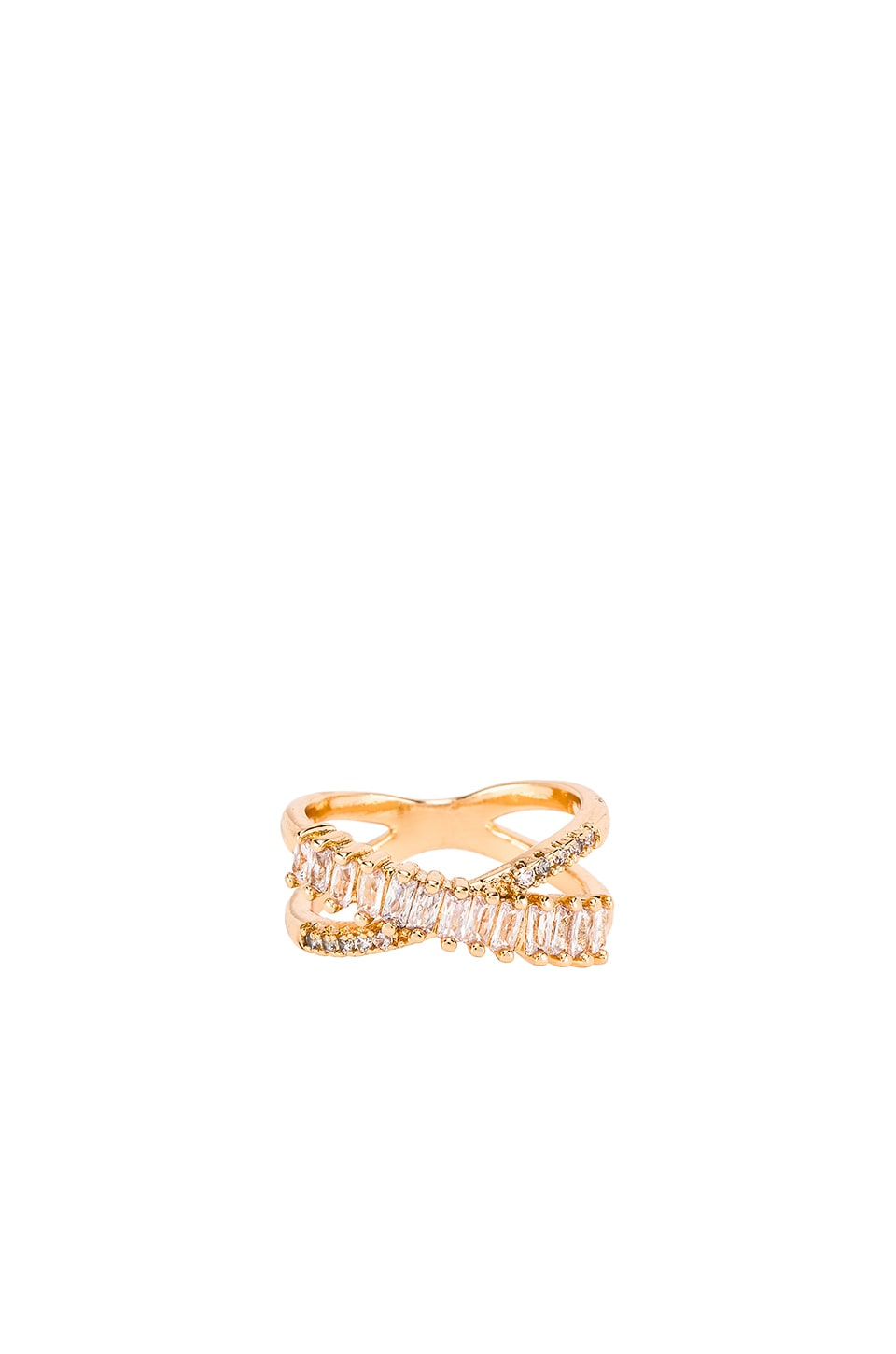 Ettika Baguette Eternity Ring in Gold