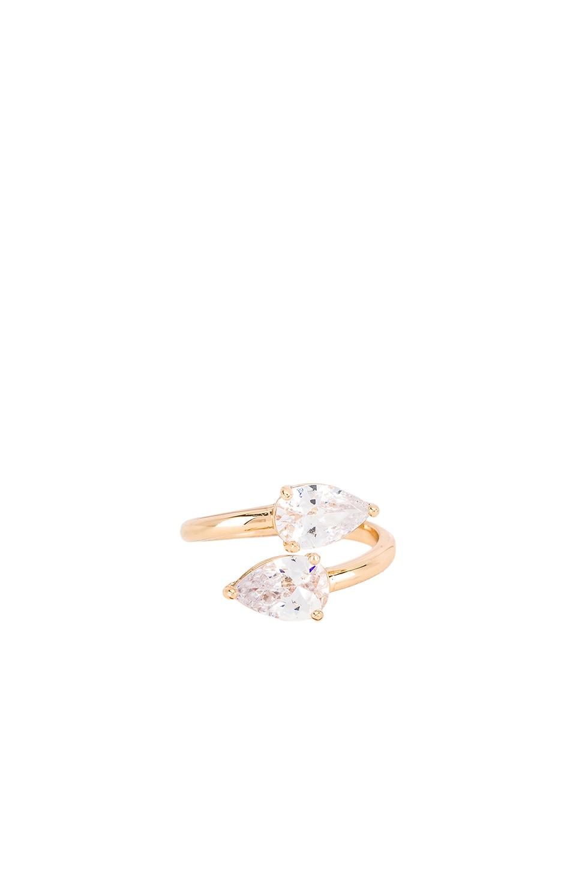 Ettika Wrap Crystal Ring in Gold