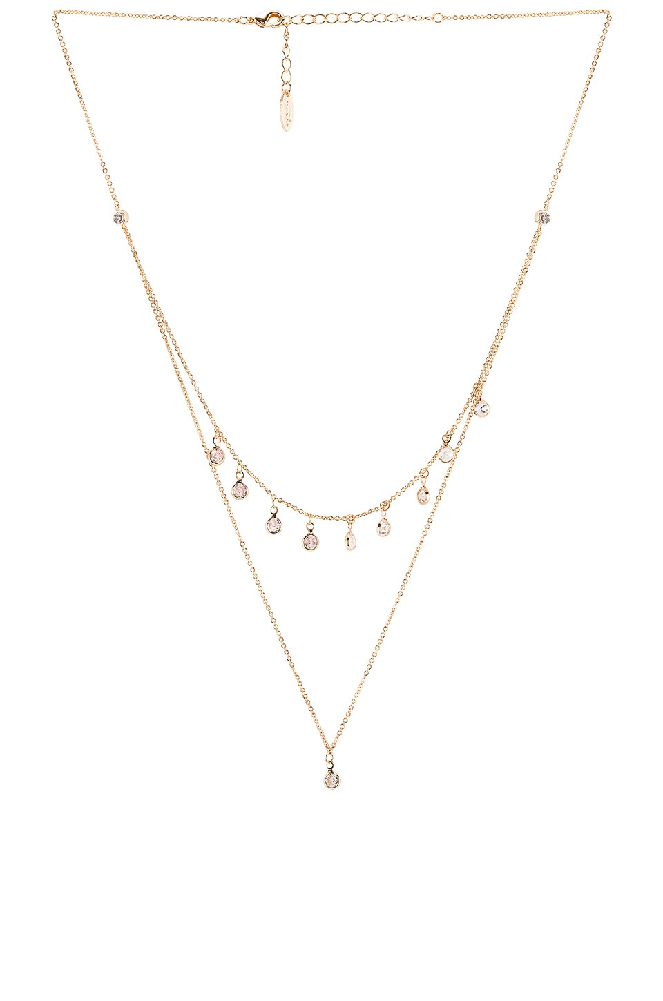 Ettika Crystal Necklace in Gold