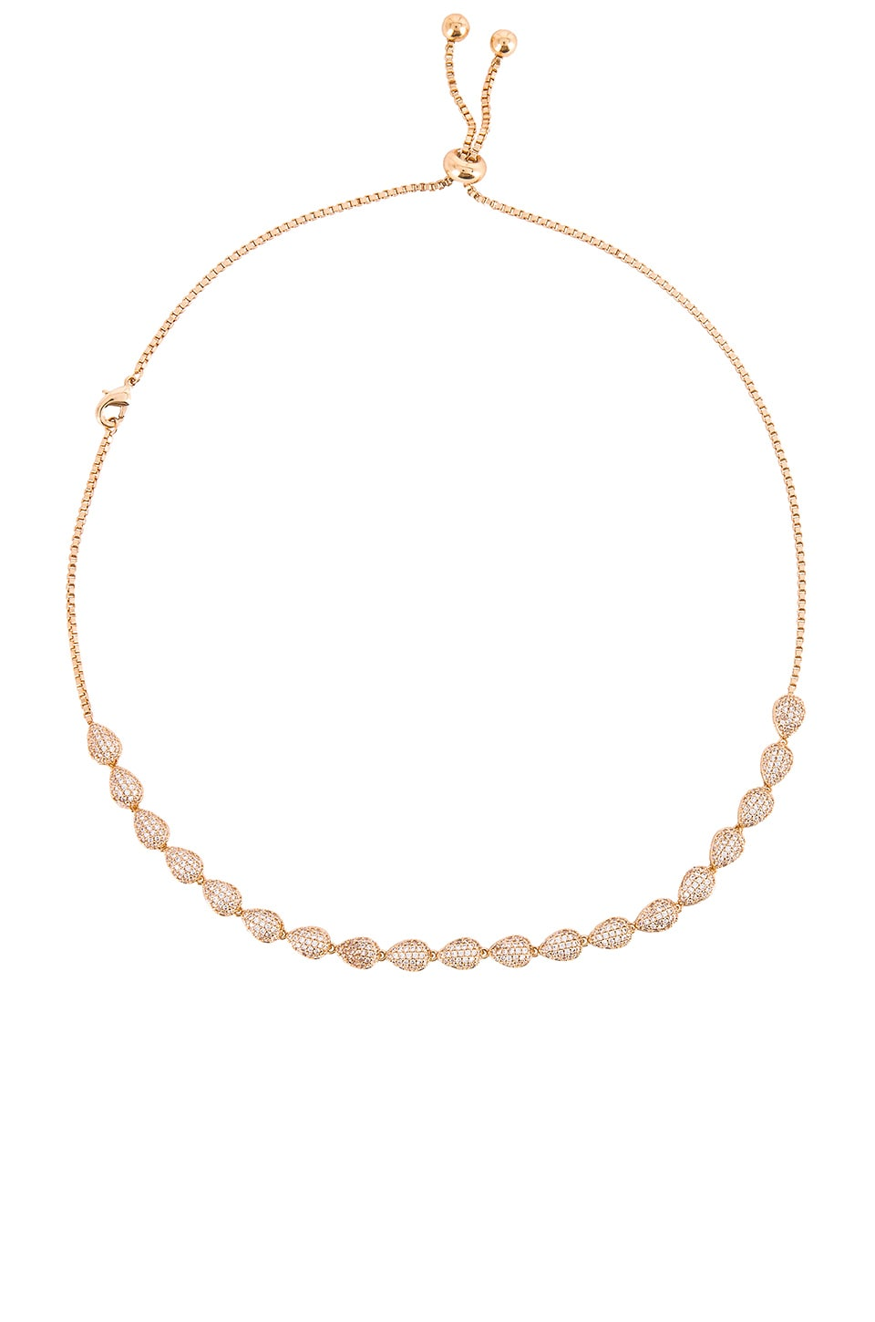 Ettika Crystal Adjustable Necklace in Gold