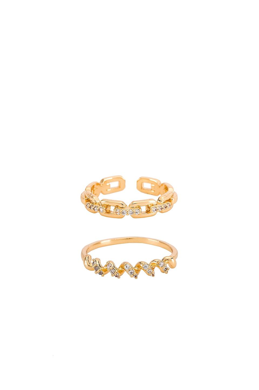 Ettika Link Ring Set in Gold