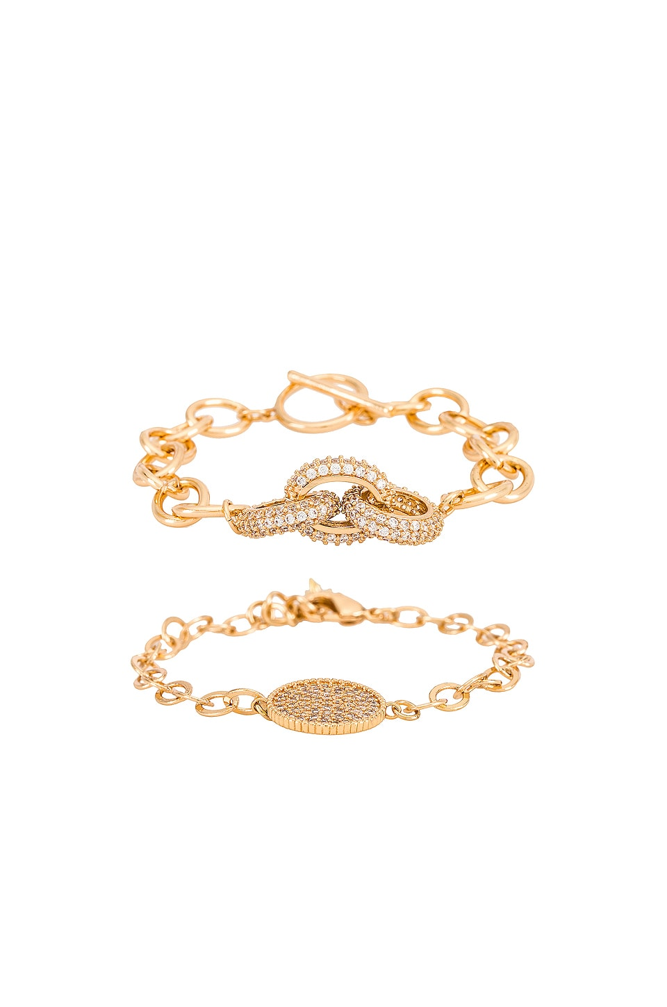 Ettika Charm Bracelet Set in Gold