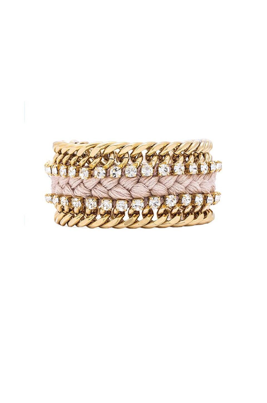 Ettika Double Chain Bracelet in Cream