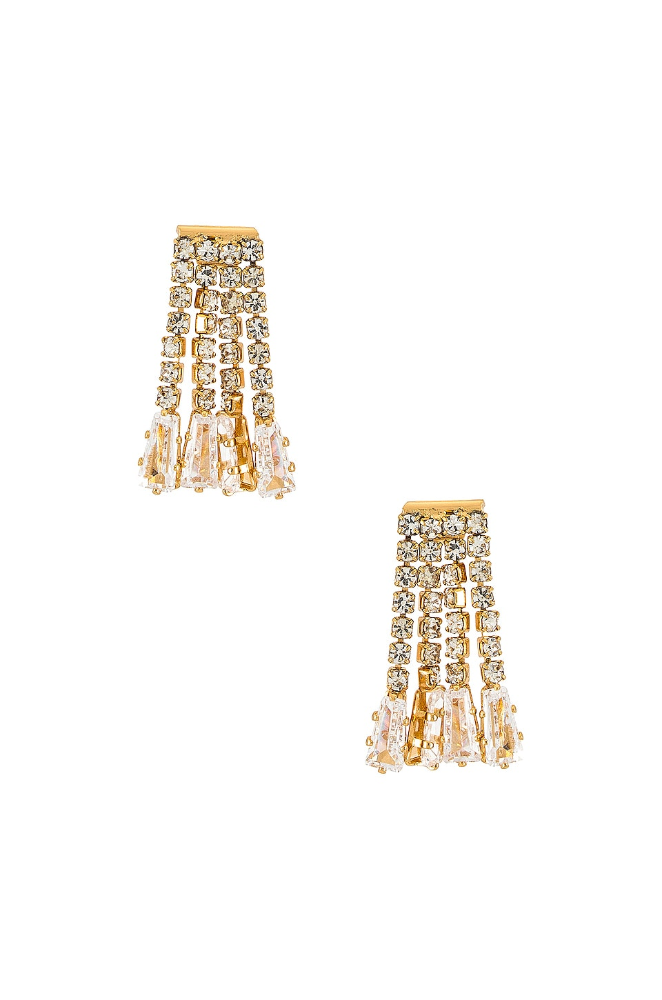 Ettika Dangle Stud Earring in Gold