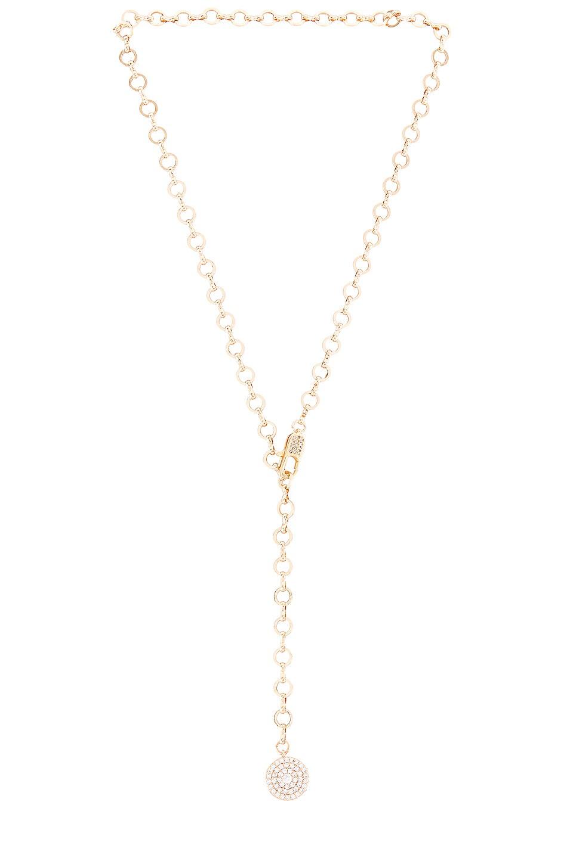 Ettika Chain Lariat Necklace in Gold