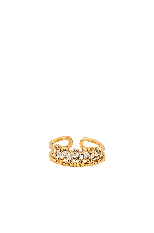 Ettika Rhinestone Stacked Ring in Gold