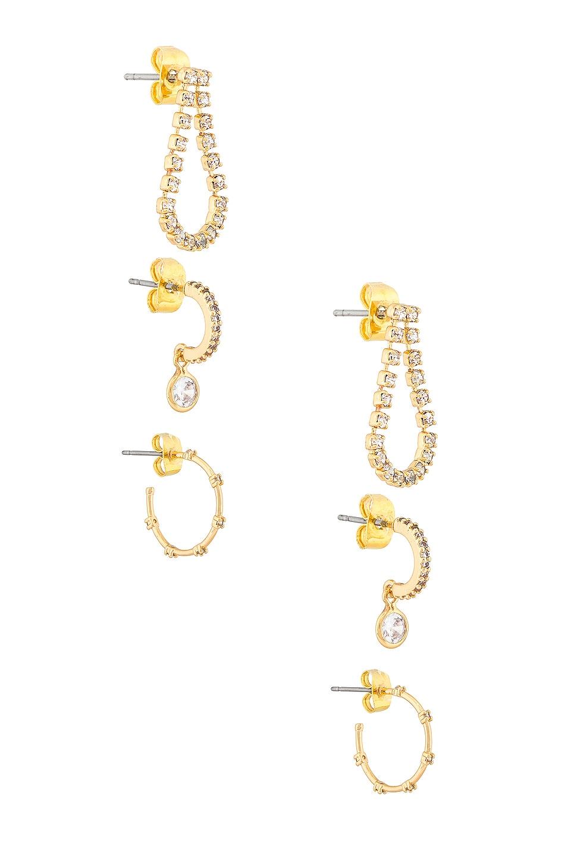 Ettika Hoop Earring Set in Gold