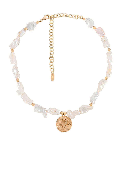 Ettika Pearl Necklace in Gold