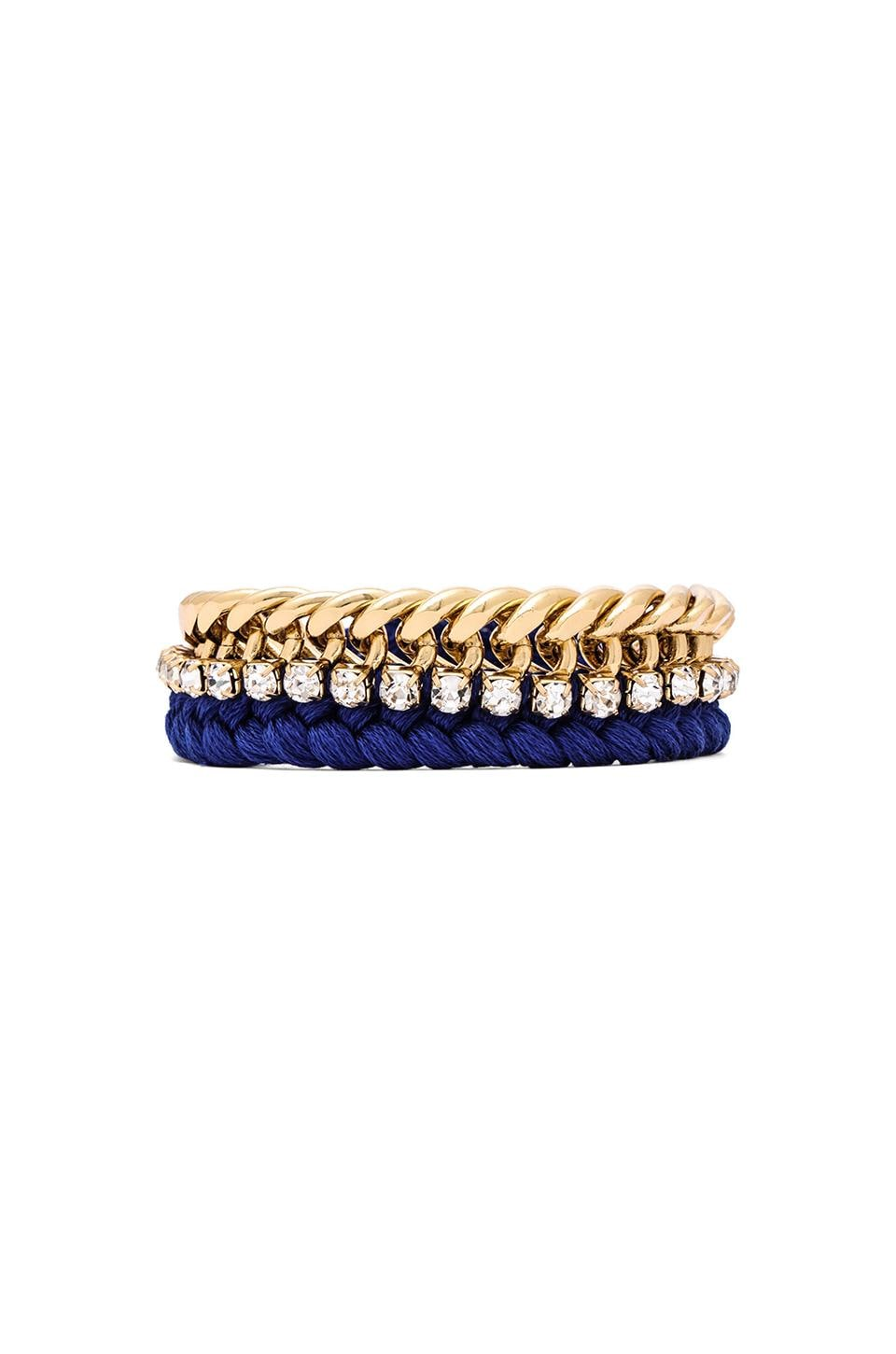 Ettika Single Chain Bracelet in Cobalt