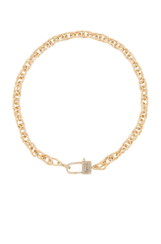 Ettika Lock Necklace in Gold