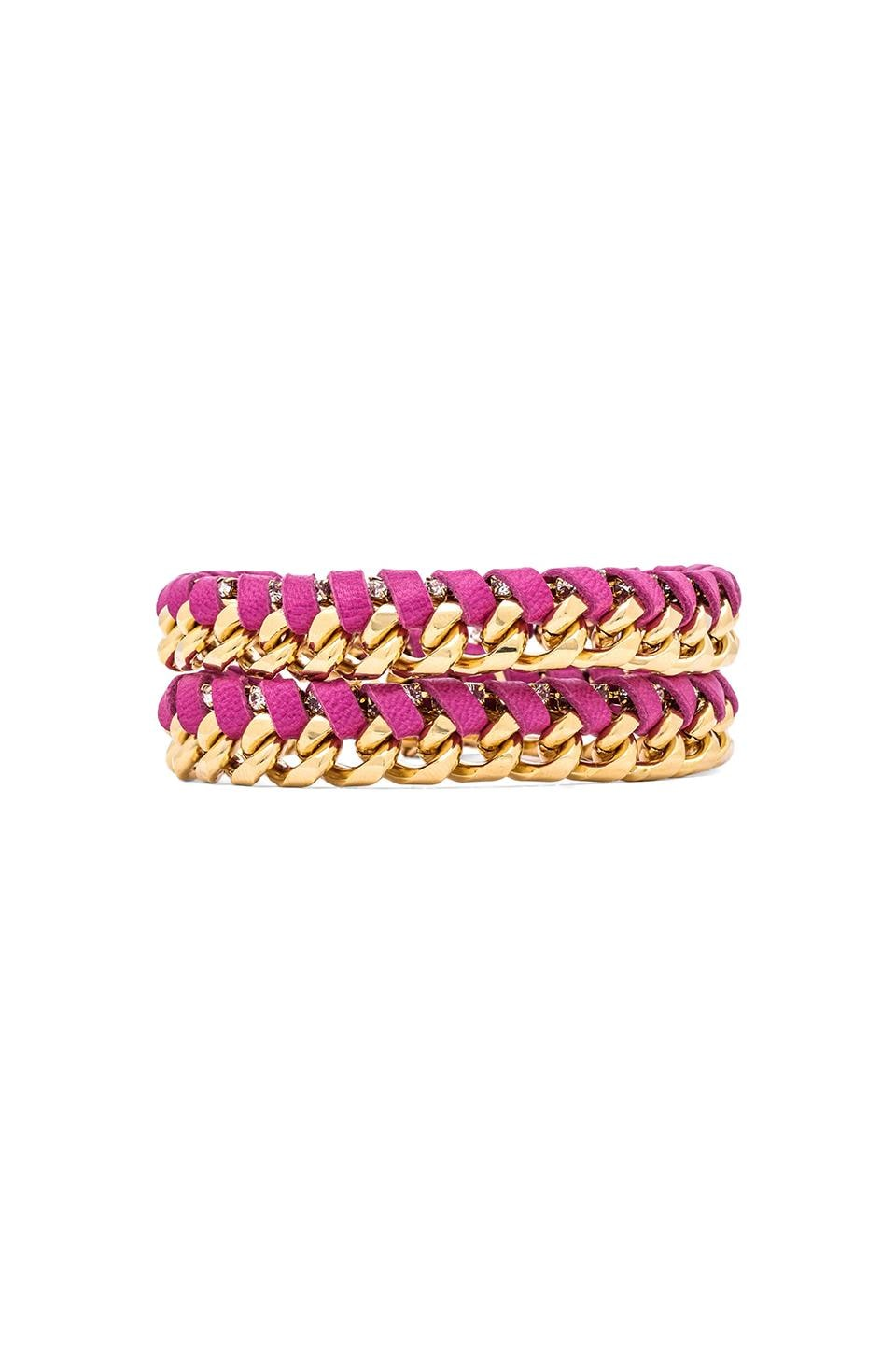 Ettika Chain Wrap Bracelet in Pink