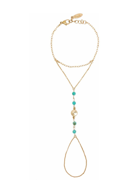 Ettika Handchain in Gold & Turquoise