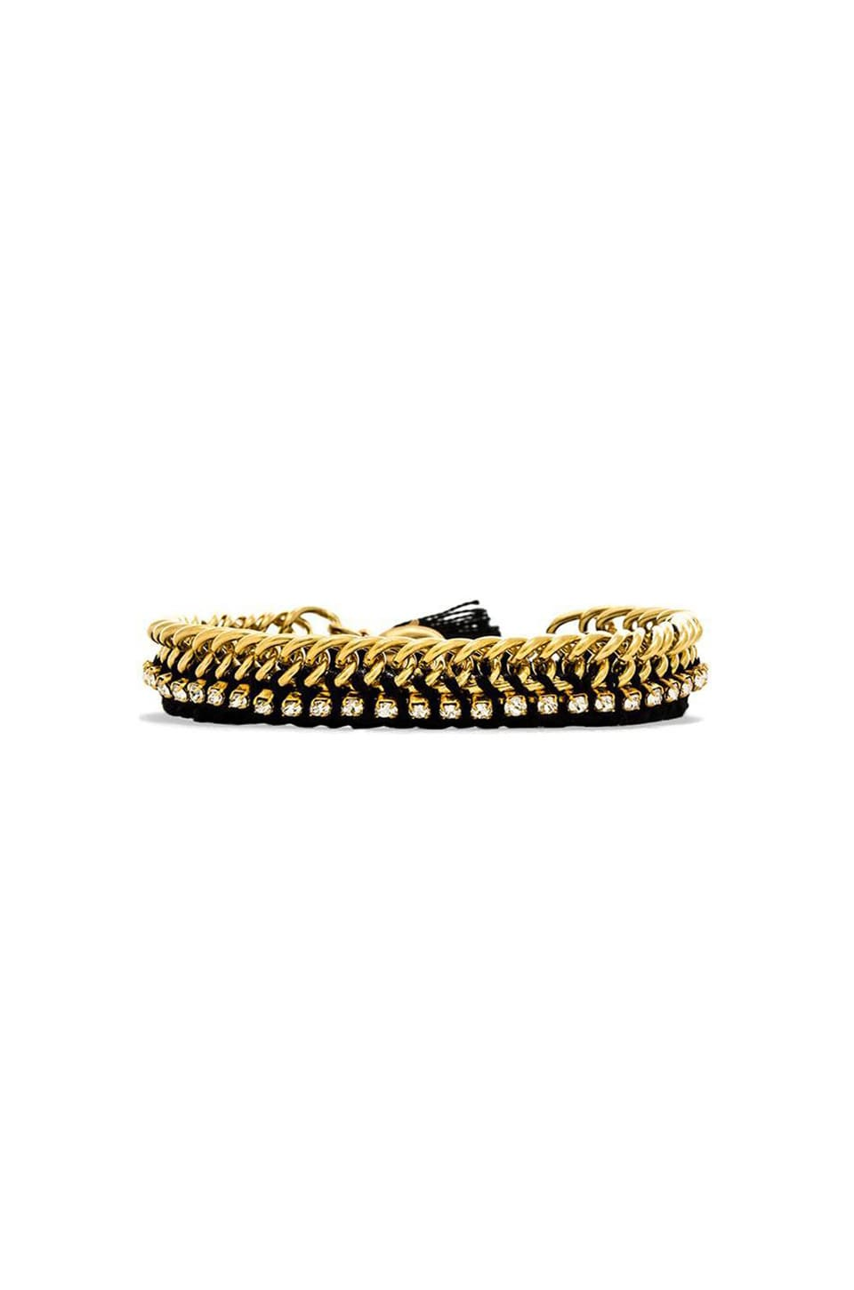 Ettika Chain Bracelet in Black/Gold