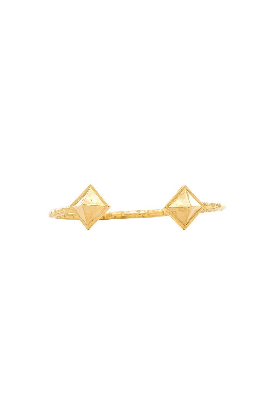 Ettika Pyramid Bangle in Gold