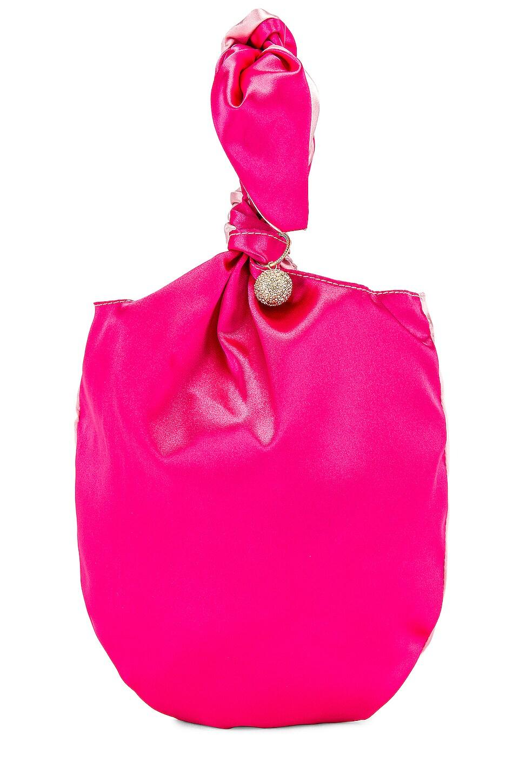 Ettika Bow Clutch in Light Pink & Magenta