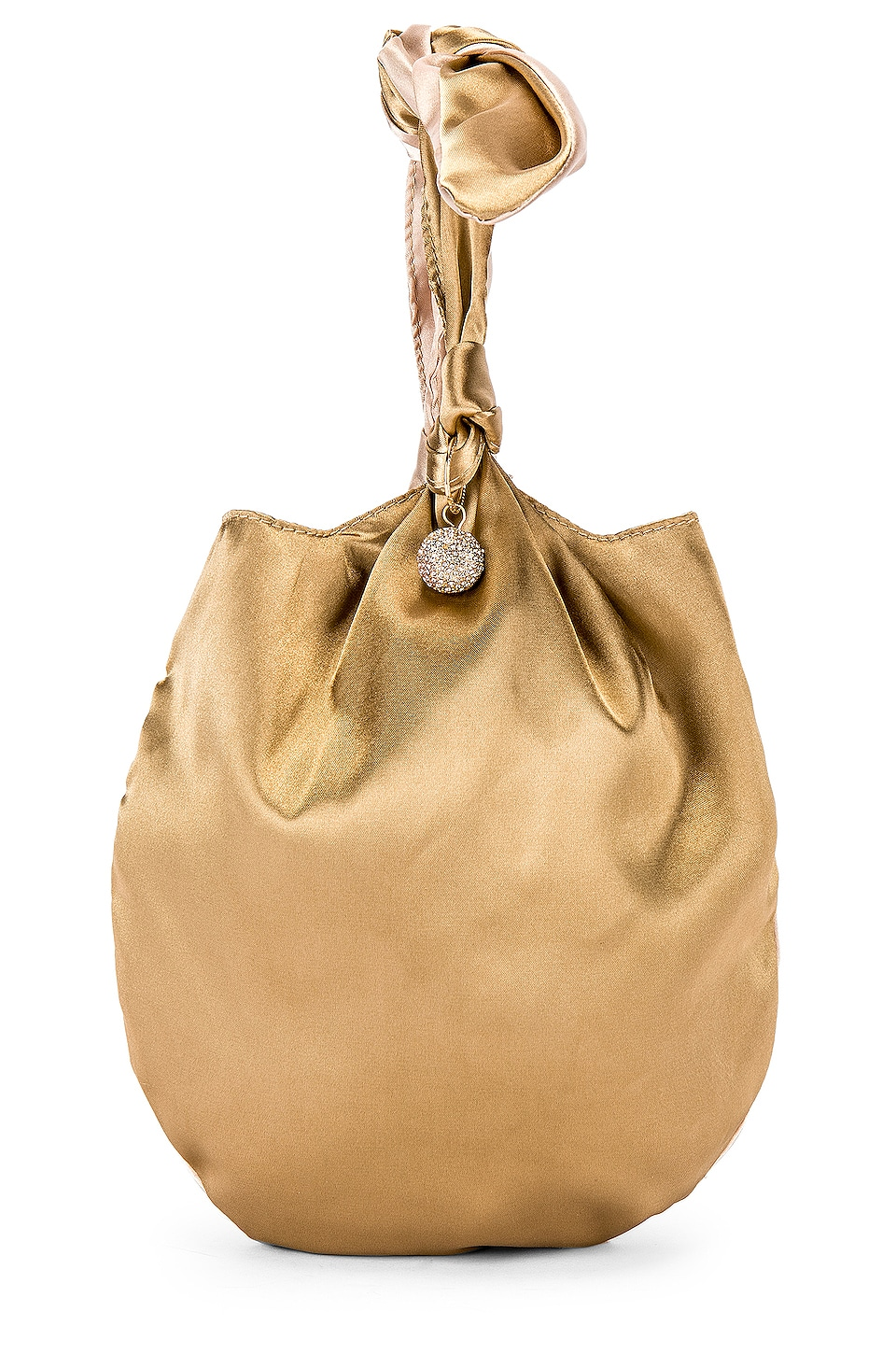 Ettika Bow Clutch in Tan & Brown