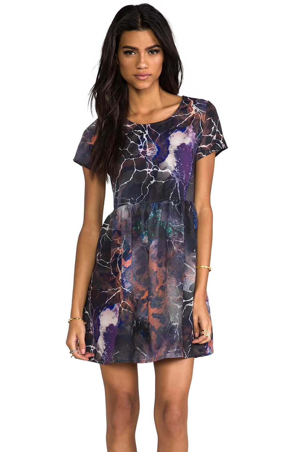Evil Twin Buzz Kill Baby Doll Dress in Multi
