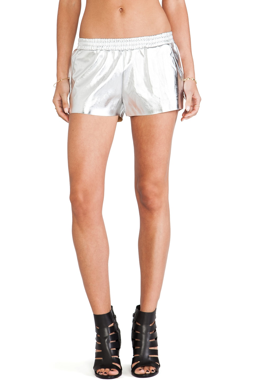 Evil Twin Title Fight Metallic Short in Silver