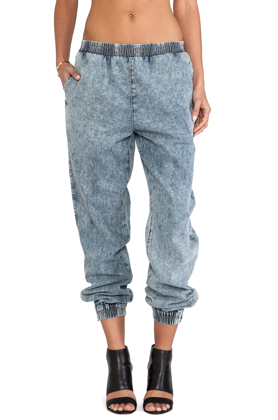 Evil Twin Slow Burn Denim Jogger in Acid