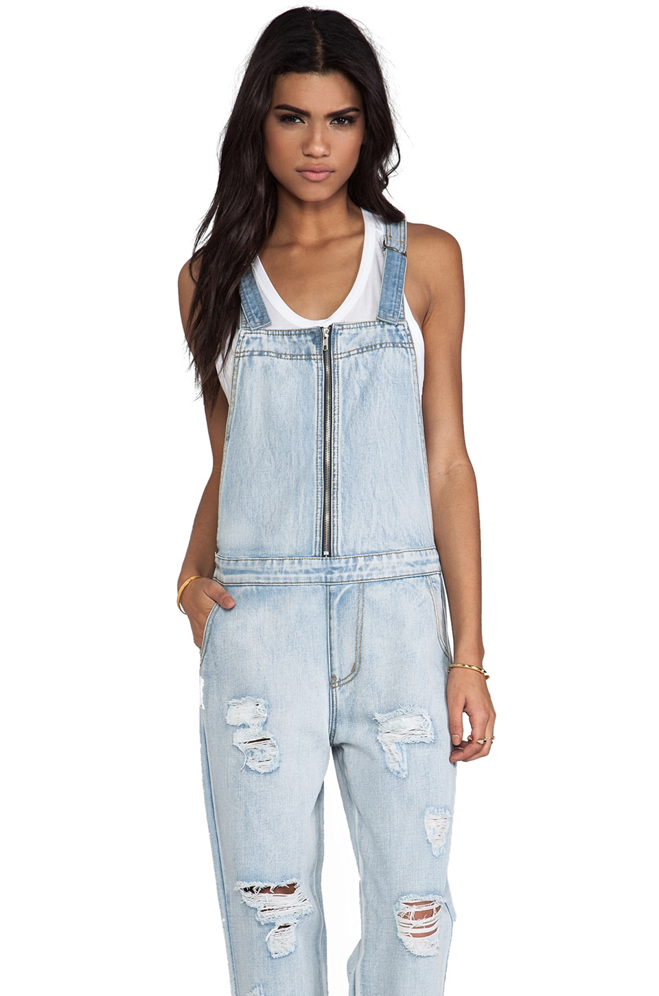 Evil Twin Simple Life Overalls in Vintage Blue