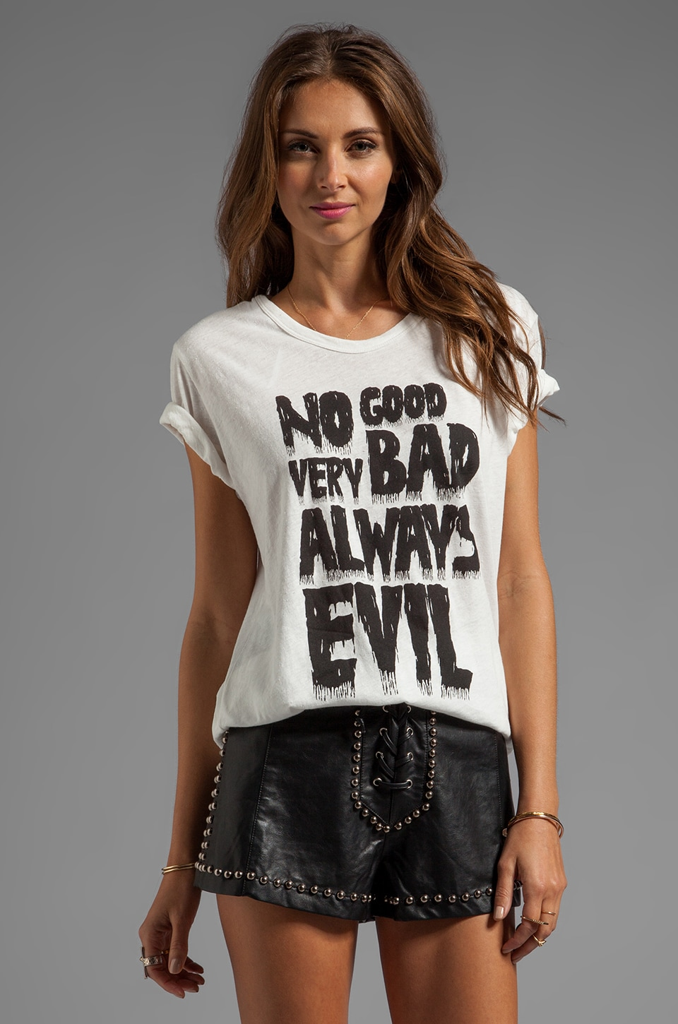 Evil Twin Always Evil Tee in White/ Black