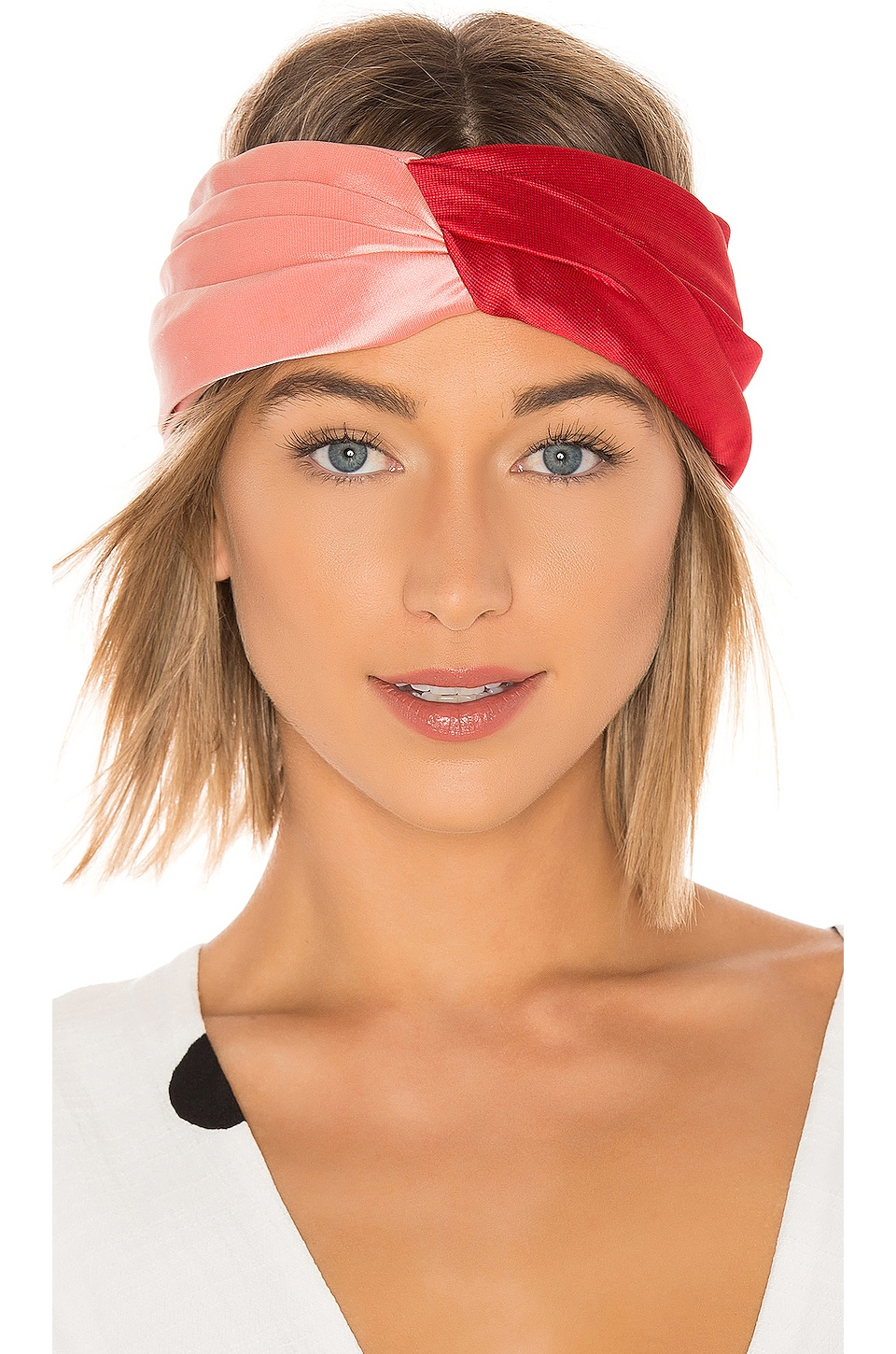Eugenia Kim x REVOLVE Malia Headband in Red & Pink