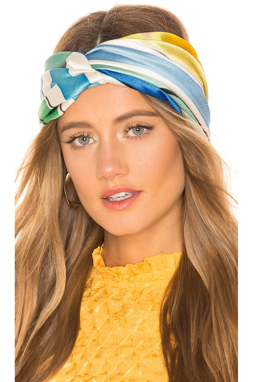 Eugenia Kim Malia Headband in Green & Blue