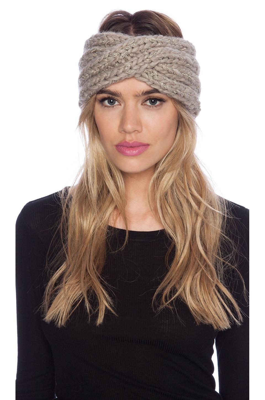 Eugenia Kim Lula Headband in Oatmeal Metallic