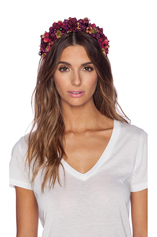 Eugenia Kim Merete Headband in Wine & Multi