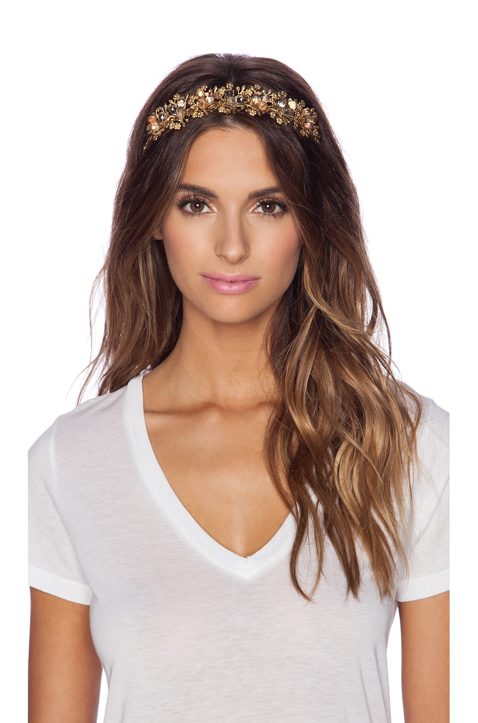 Eugenia Kim Sarah Headband in Gold & Blush