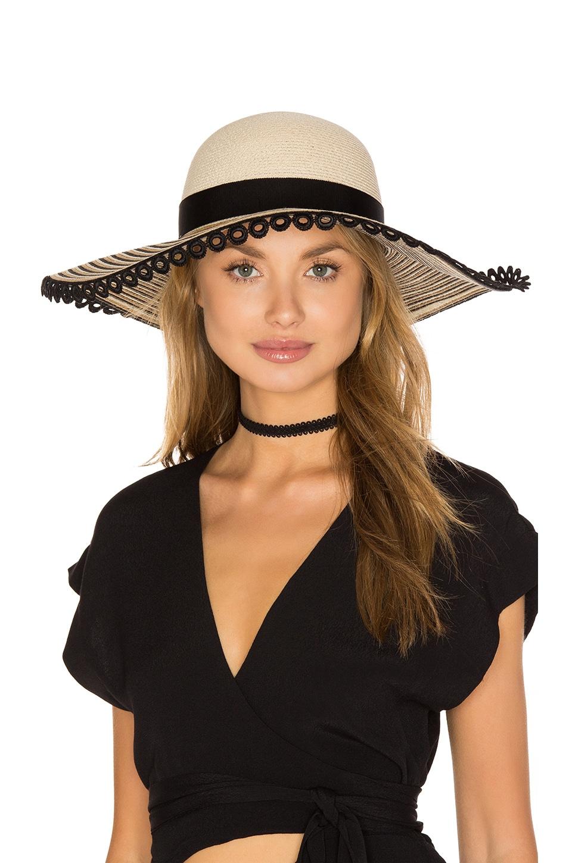 Eugenia Kim Honey Hat in Ivory, Camel & Black