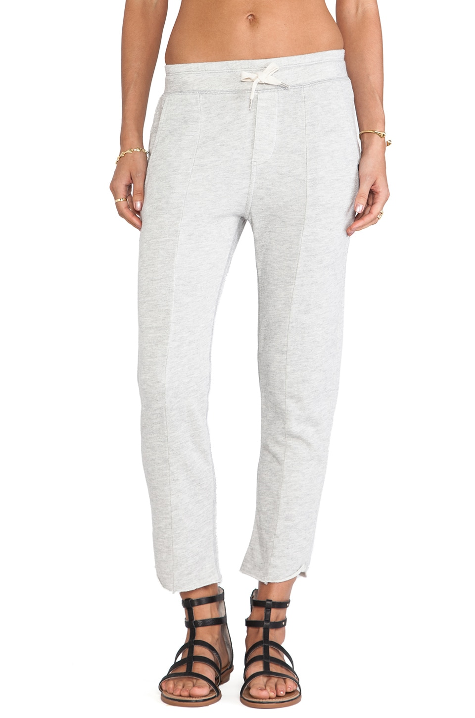 EVER Seamed Sweatpant in Heather Grey