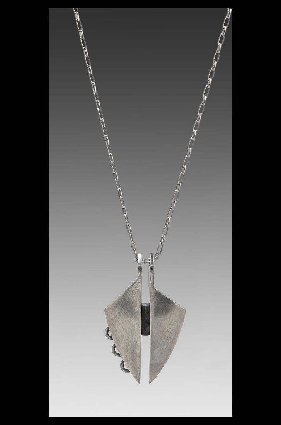Low Luv x Erin Wasson Eclipse Pendulum Necklace in Silver